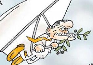 Hürriyet karikatüristi Erdoğan'ı güvercin yaptı