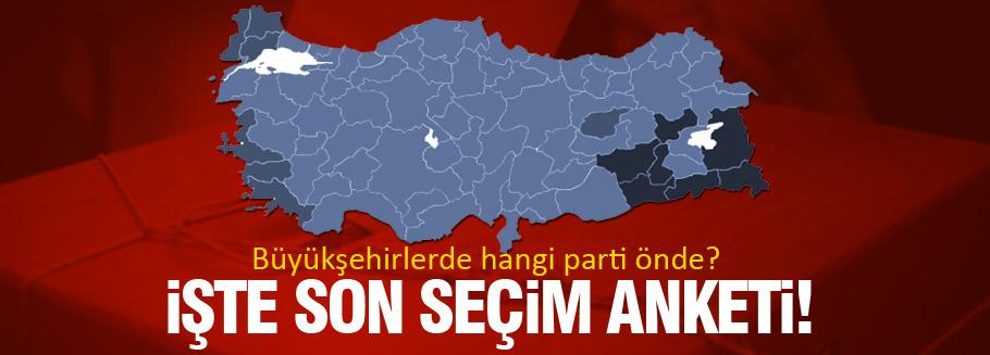 İlçe ilçe İstanbul ve İzmir'de son yerel seçim anketi!