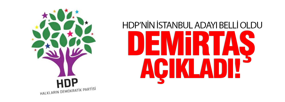 HDP'nin İstanbul adayı Sırrı Süreyya