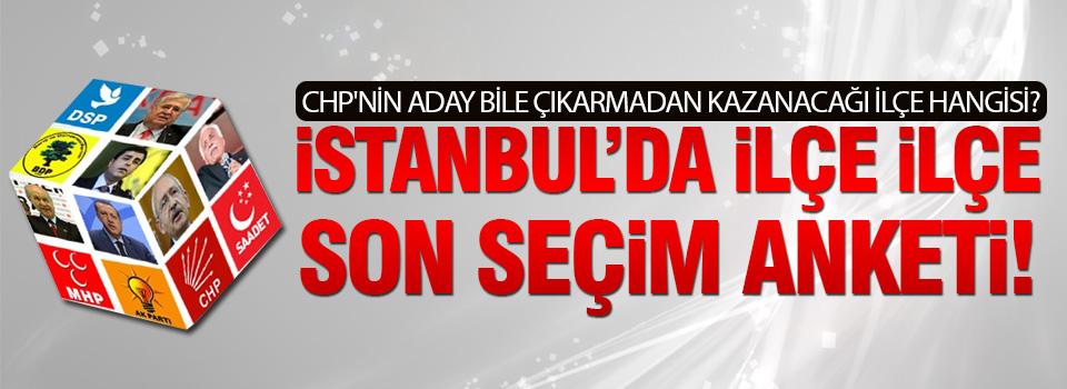 İstanbul'da yerel seçim anketi