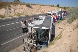 Nevşehir'de trafik kazası: 10 yaralı