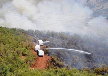 Tunceli'de orman yangınına TOMA'lar söndürdü