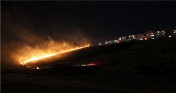 Başkent'te gece, yangınlarla aydınlandı