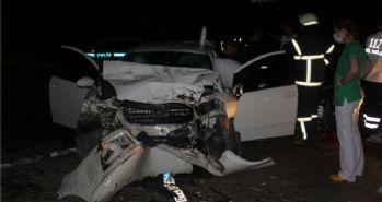 Otomobil TIR'la çarpıştı: 1 ölü