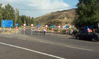 Karakurt- Kağızman-Iğdır yolu kapatıldı