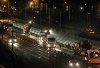 Haliç Köprüsü metrobüs yolundaki çalışma yarın tamamlanacak