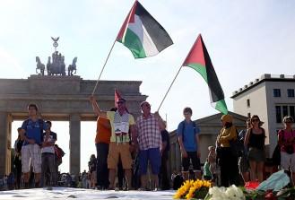 Gazze'de hayatını kaybedenler Berlin'de anıldı