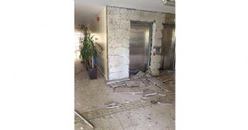 Patlama belediye binasında büyük hasara neden oldu