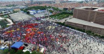 Bakırköy'deki kutlamalar havadan görüntülendi