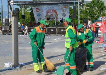 1 Mayıs'ın asıl emekçileri; çalışan temizlik işçileri