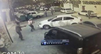 İki kişinin vurulduğu kavga kamerada