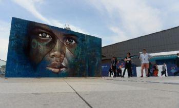 'Mülteci çocuk' grafiti oldu