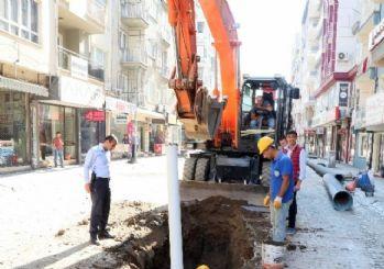 Efeler Kıbrıs Caddesi'nde Yağmursuyu Çilesi Bitiyor