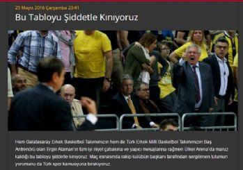 Galatasaray'dan Açıklama: Bu Tabloyu Şiddetle Kınıyoruz'