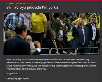 Galatasaray'dan sert tepki geldi