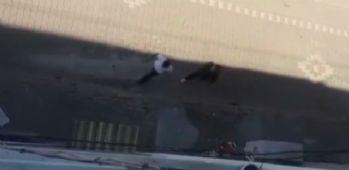 Çığlıkları fayda etmedi: Cinayet anında yaşananlar kamerada