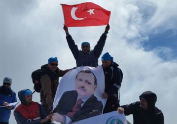 3 bin metreden Erdoğan'a selam