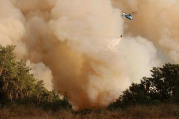 Kumluca'da yangın tekrar başladı
