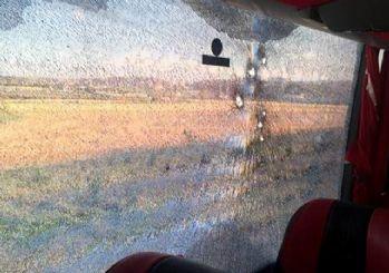 Yolcu otobüsüne silahlı saldırı