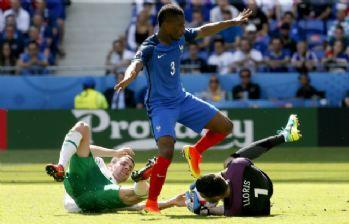 Ev sahibi Fransa, çeyrek finalde