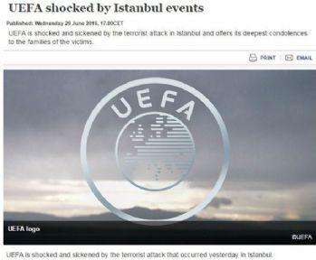 UEFA'dan başsağlığı mesajı