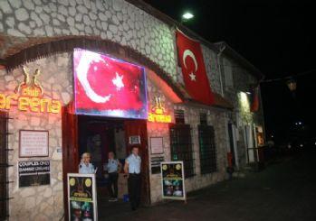 Marmaris Barlar Sokağı'nda Teröre Bayraklı Tepki
