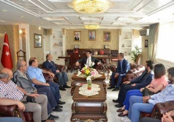 Gümüşhane'de Gazeteciler Vali Memiş'i ziyaret etti