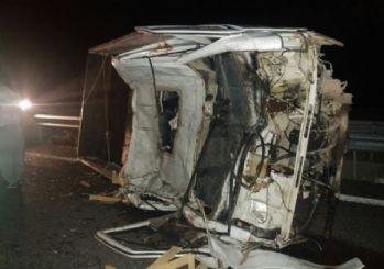 Konya'nın Ereğli ilçesinde meydana gelen kazada 1'i ağır 4 kişi yaralandı