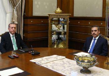 Cumhurbaşkanı Erdoğan, MİT Müsteşarı Fidan'ı kabul etti