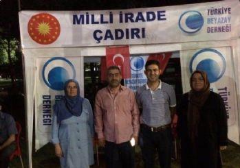 Beyazay Derneği Diyarbakır Şubesi'nden demokrasi nöbetine destek