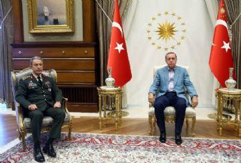 Erdoğan-Akar görüşmesi sona erdi