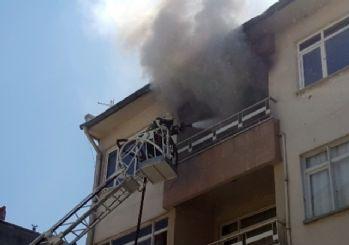 Düzce'de Iraklı ailenin evi yandı