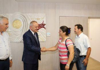 Başkan Ergün Dünya Şampiyonu cimnastikçiyi ağırladı
