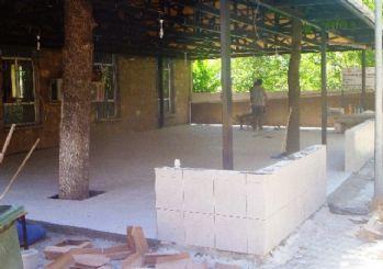 Dedeoğlu Camii'nin son cemaat yeri düzenleniyor