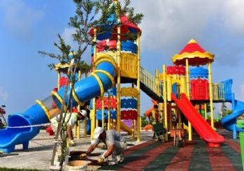 Atatürk Parkı çocuk oyun alanı yenilendi
