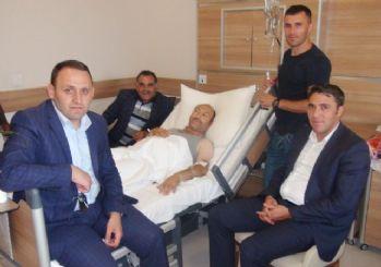 İHA Kars Temsilcisi Çapanoğlu'na geçmiş olsun ziyareti