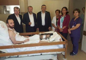 Şükrü Nazlı ve Ahmet Tan'dan demokrasi gazilerine 'geçmiş olsun' ziyareti