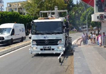 Antalya Büyükşehir Belediyesi'nden Manavgat caddelerine düzenleme