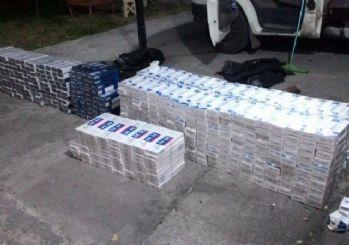 Kağızman'da 7 bin paket kaçak sigara ele geçirildi