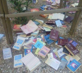 Ormanlık alanda Gülen'e ait kitaplar bulundu