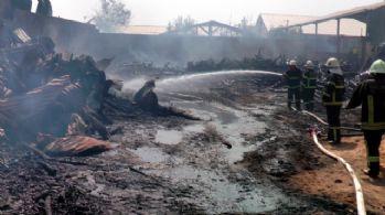 Gaziantep'te 9 iş yeri kül oldu