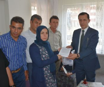 Şehit ailelerine şehitlik beraatı takdim edildi