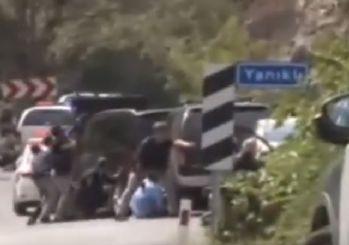 Saldırı anı kameralara yansıdı