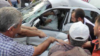 Vatandaşlar itfaiyeyi beklemedi yaralıyı böyle kurtardı