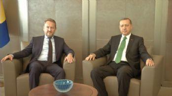 Cumhurbaşkanı Erdoğan, İzetbegoviç ile bir araya geldi