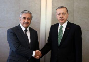 Erdoğan, akıncı ile görüştü