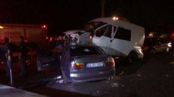İstanbul'da zincirleme kaza: 6 yaralı