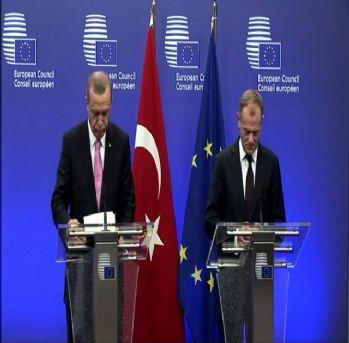 Avrupa Konseyi Başkanı Tusk'la ortak basın toplantısı