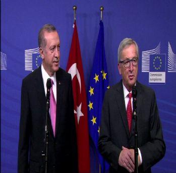 Cumhurbaşkanı Erdoğan, Juncker ile bir araya geldi