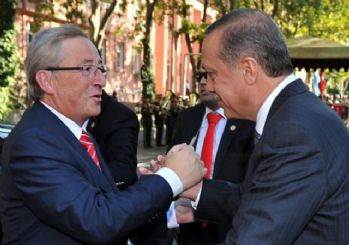 Erdoğan'a Juncker'dan sıcak karşılama